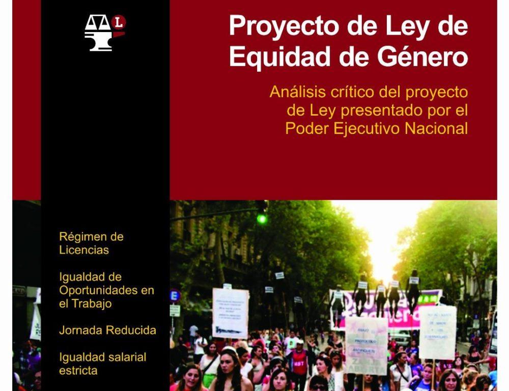 Análisis crítico del Proyecto de Ley de Equidad de Género