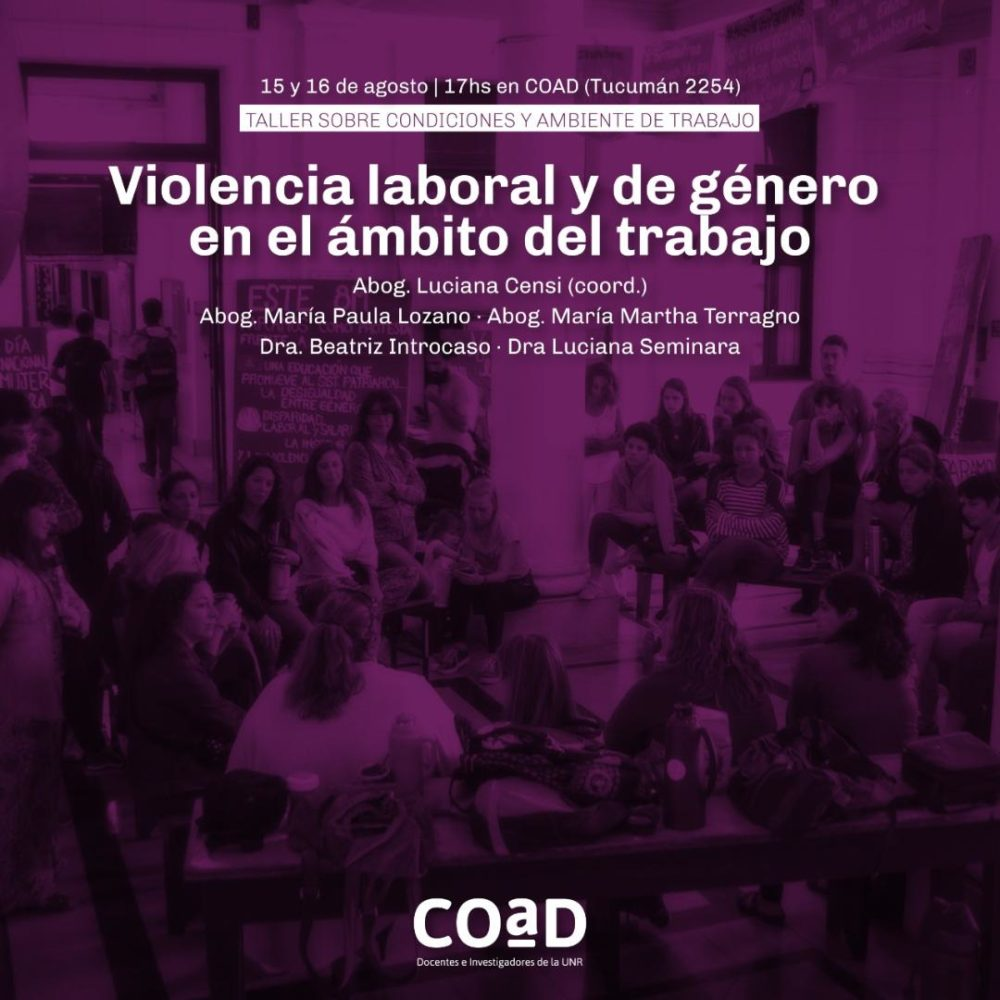 Violencia laboral y de género en el trabajo
