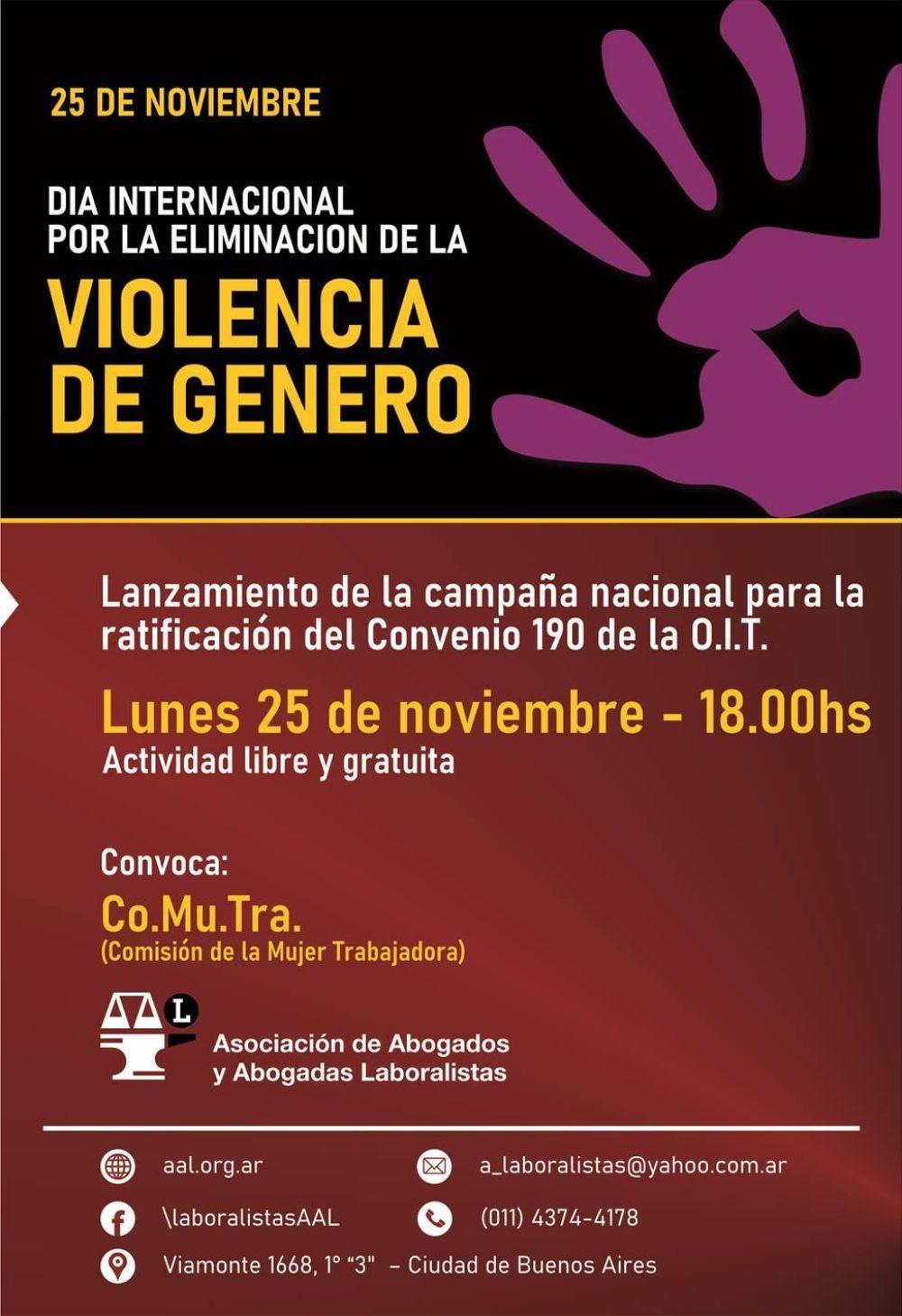 Campaña por la ratificación del Convenio 190 de la OIT