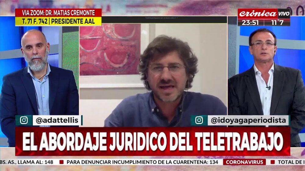 Matías Cremonte analiza la regulación del teletrabajo