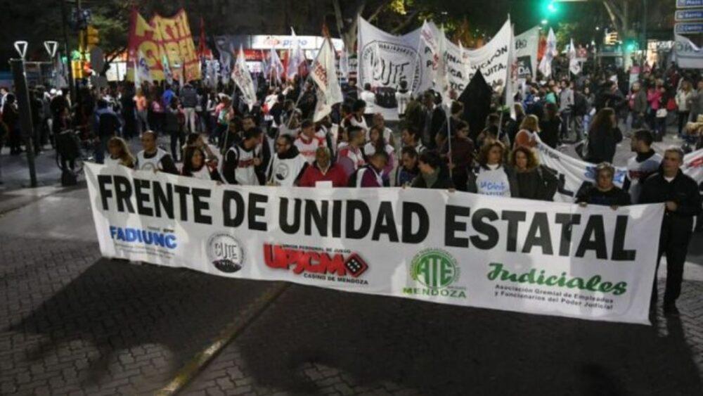 Repudio a la represión y detención de dirigentes sindicales en Mendoza