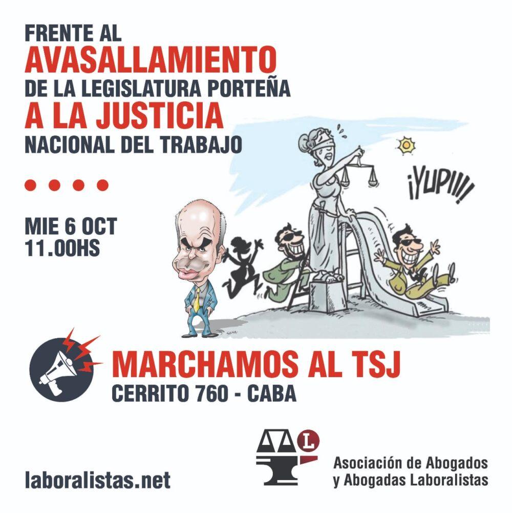Frente al avasallamiento de la Legislatura porteña a la Justicia Nacional del Trabajo